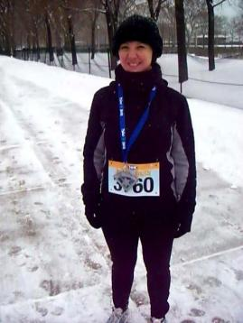 "December 2011- my first run, the ""Polar Dash.""  I had been running for 9 mths at this point."