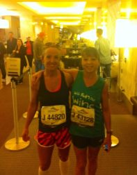 Morning of Chicago Marathon with my soul sister Danielle. Aside from raising two boys, this was the biggest accomplishment of my life.