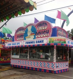 A funnel cake trailer