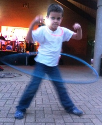 Little D can Hula Hoop