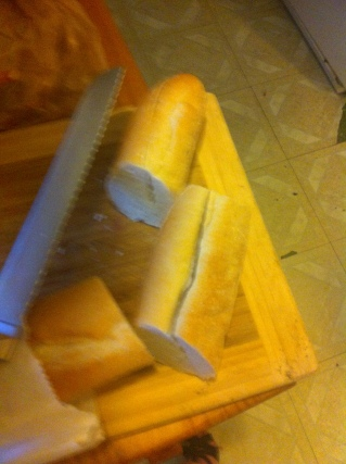 Fresh Bread for Sausage and Pepper Sandwich