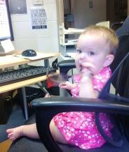Secretary Baby Stressing