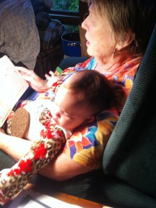Mom Reading to Arya, about 2 weeks before the last scare. Taken in September 2014