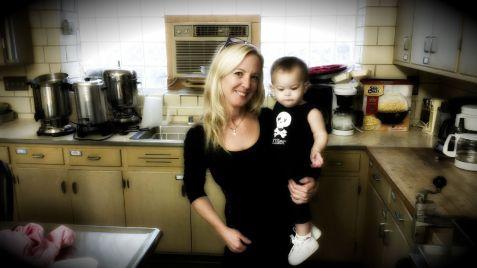 A matchy matchy grandma and babygirl